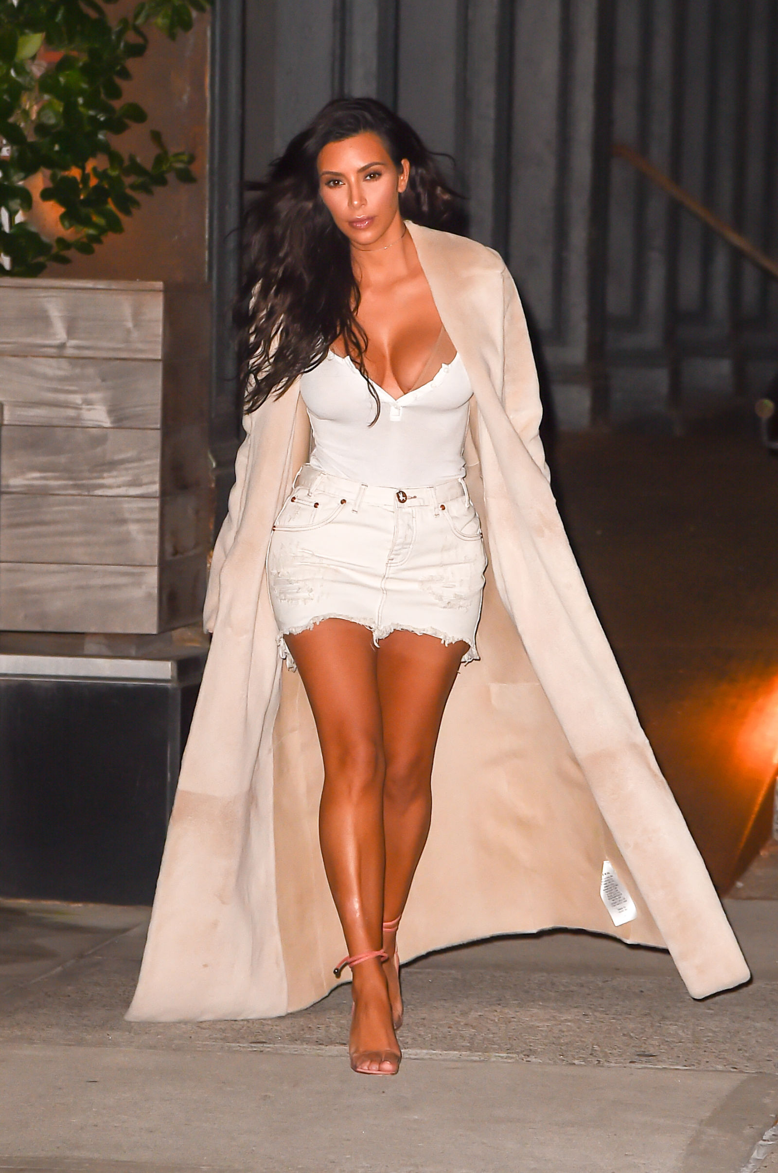 kim-k-blush-shoes-and-coat